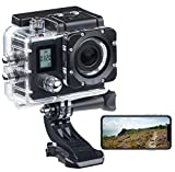 Somikon Helmkamera: Einsteiger-4K-Action-Cam, WLAN, 2 Displays, Full HD 60 B./Sek, IP68...