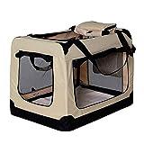 Hundetransportbox Hundetasche Hundebox faltbare Kleintiertasche Farbe Beige Gre M