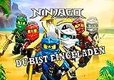 TV-24 Einladungskarten 12er Set + 12 Umschläge Kindergeburtstag kompatibel mit Ninjago A 1