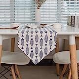 Joycaling Tischläufer Blauer Saury-Frühlings-Hochzeits-Tischläufer R for Familien-Abendessen oder...