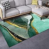 Outdoor teppiche Wohnzimmer Teppich Grüne abstrakte einfache Muster Anti-schmutzige Teppich...