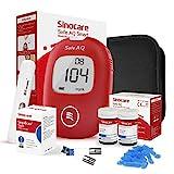 sinocare Safe AQ Smart Blutzuckermessgerät, mg/dL, Diabetes-Set mit 50 Blutzuckerteststreifen,...