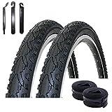 maxxi4you Angebot-Set / 2 x Kenda K-935 26' Fahrradreifen Schwarz 47-559 (26 x 1.75) + 2 passende...