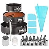 Backset Kuchendekorationsset, 24-teiliges Backwerkzeug-Set für Kuchen mit Kuchenformen-Set,...