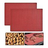 WOWOSS Silikon Backmatte - 1cm Halbkugel Silikonmatte mit Noppen - 468er Backform für Hundekekse &...