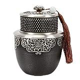 ODDINER Kanister Zinn Teedose Speicherbehälter Tee Zinn Retro-Stil Airtight Teedosen Tee-Box...