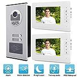 Garsent Video Türsprechanlage Türklingel Intercom System, 7 Zoll LCD Video Türklingel, Nachtsicht...