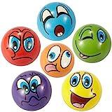 ZYDTRIP Emoji Squishy Spielzeugball, 6 Stck Stressabbaukugel Anti-Stress-Spielzeugkugeln fr Kinder...