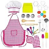 30 Stück Backset, Kochküchen Set für Kinder, Rollenspiel Küchenchef  Hochwertige Materialien ...