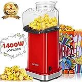 Popcornmaschine 1400W, Aicook Automatische Popcorn Maker Machine fr Zuhause, Weit-Kaliber-Design...