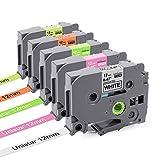 Unistar Kompatibel Etikettenband als Ersatz für Brother TZe-231 TZe-MQP35 TZe-MQG35 TZe-B31 TZe-C31...