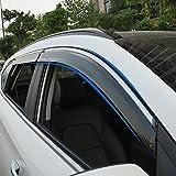 BeHave yd315w Auto Visier,Auto Fenster Regen Augenbraue,Auto-Dekoration Zubehör,Auto Windabweiser...