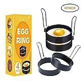 TUKNON Egg Ring, Ei Ring, Ei Ring Edelstahl, Runde Eierringe aus Edelstahl, Antihaft-Eierringe mit...
