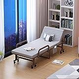Bett Doppel Faltbare Falte-Bett Als Baby Gästebett mit Memory Foam Matratze verstell- und...