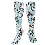 Not Applicable Socken,Motocross Dirt Bike2 Weiche Bequeme Socken Für Sportliches Wandern, Radfahren