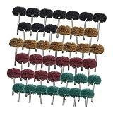 Injoyo 40x Nylon Polierauflagen Schleifen Schleifkopf zum Schleifen, Schnitzen und Polieren von...