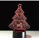 Illusion 3D 7 farbwechsel weihnachtsbaum nachtlicht sammlerstück led tisch schreibtischlampe...