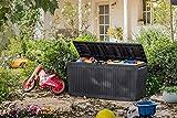 Koll Living Auflagenbox/Kissenbox 270 Liter Farbe : Graphit l 100% Wasserdicht l mit Belüftung...