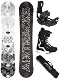 Airtracks Snowboard Set - Wide Board Akasha Wide 152 - Softbindung Master - Softboots Savage Black...