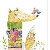 tytlwall vorgedruckt leinwand-Ölgemälde,Bild Fuchs Kreativität Malstil Tier Poster Leinwand...