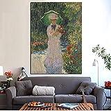 RTCKF Berühmte Monet abstrakte Sonnenschirm mädchen ölgemälde leinwand Druck pop Art Bild...