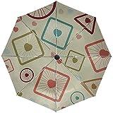 Automatische Regenschirm-Zellen-Hintergrund-Form-Beschaffenheits-Bereich-Wrfel-Reise-bequemer...