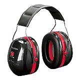 3M Peltor Optime III Kapselgehörschutz schwarz-rot – Größenverstellbare Ohrenschützer mit...