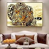 GJQFJBS Leinwanddruck Leopard Leinwand Kunst Malerei Abstrakte Tier Leopard Poster A4 50x70 cm