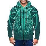 BODY Baphomet Eyes Herren 3D Hoodie Full Zip Graphic Sweatshirts Pullover Casual Pocket Jacket Gr....