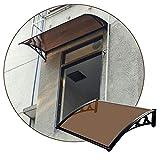 JIANFEI VordachHaustürÜberdachung, Außentür Polycarbonat Sonnenschutz Dachschuppen,...