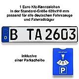 TA TradeArea 1 DIN-zertifiziertes Kfz-Kennzeichen in der Standard-Größe 520x110 mm inklusive...
