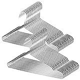 TUXWANG Kleiderbügel Set aus Edelstahl (18/10) 30 Stück, kleiderbügel metall silber,...