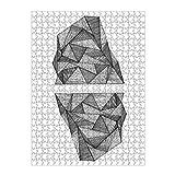 artboxONE Ravensburger-Puzzle L (500 Teile) Abstrakt Geo Berg I - Puzzle Geometrie Berge eisberg