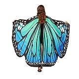 YBWZH Kostüme Karneval Kostüm Damen Schmetterling Butterfly Wings Schal Schals...
