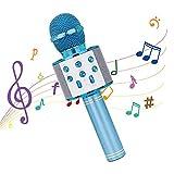 Karaoke Mikrofon, Drahtloses Mikrofon Bluetooth mit Lautsprecher, Tragbares Handmikrofon für...
