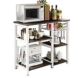 SogesHome 3 Ablage Küchenregal Bäcker Regal Standregal Mikrowellen Halter Küchen regallagerung...