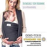 Mammacita Tragetuch Baby aus OEKO-TEX Baumwolle - Babytragetuch von Hebamme entwickelt - Baby...