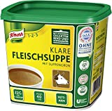 Knorr klare Fleischsuppe mit Suppengrün (Rinderbrühe nach bewährter Rezeptur) 1er Pack (1 x 880g)