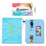 JACINTA 36 Farben hochwertige solide Pigmente Aquarellfarben Set mit Wasserfarbe tragbarer...