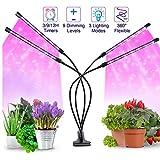 JZH 40W LED Pflanzenlampe Mit Automatik-Timer 3/9/12H,80 LED Grow Lampe Pflanzenlicht Vollspektrum...