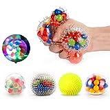 Fansteck Stressball Set [4er-Pack], Squishy Mash Ball / Anti-Stress-Bälle für Kinder und...