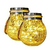 Lampions Solar Außen, Solarlampen Für Außen,30 Led Wasserdicht Solar Einmachglas Aussen Lampions,...