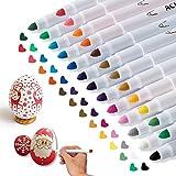 APOGO Acrylstifte Marker Stifte Set, 25 Farben Wasserbasis Acrylfarben Stift zum Steine Bemalen Holz...