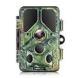 Campark WLAN Bluetooth Wildkamera 20MP 1296P, WiFi No Glow Night Vision 940nm Wildtierkamera mit...