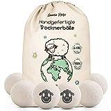 Trocknerbälle für Wäschetrockner - Der Natürliche Weichspüler aus 100% Schafwolle - [6x] XXL...