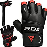 RDX Fitness Handschuhe Gewichtheben Trainingshandschuhe krafttraining Rindsleder Workout Gloves...
