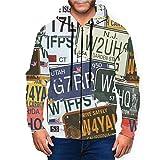 BODY Vintage Original Nummernschilder Reise Herren 3D Hoodie Full Zip Graphic Sweatshirts Pullover...