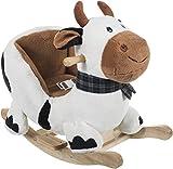 Bieco 74000357 - Plüsch Schaukeltier Kuh, weiß mit schwarzen Flecken, Kinder Schaukelstuhl,...