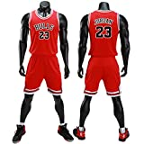 unbrand Kinder Junge Herren NBA Michael Jordan # 23 Chicago Bulls Retro Basketball Shorts Sommer...