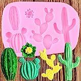 MENGYANG Silikonformen ,Kuchen Moulds,Kaktus Pflanze Silikonform DIY Blume Fondant Harz Tonform...